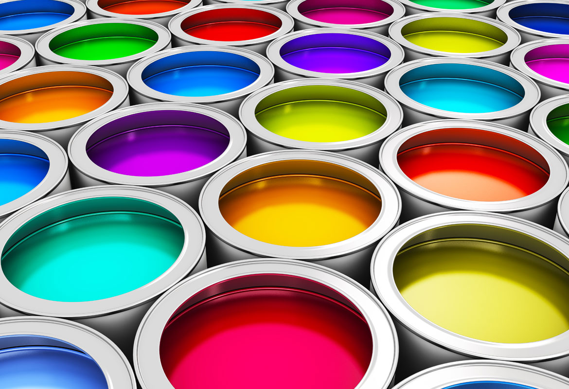 Paint cans bright color options