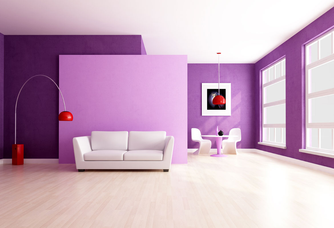 Purple Interior Paint
